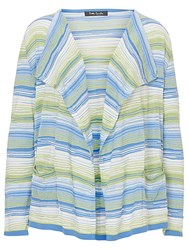 Betty Barclay Candy Striped Cardigan Blue Green