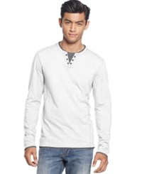 Inc International Concepts Men's Really Real Pieced Shirt White Pure