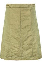 Marni Pleated Twill Skirt Army Green