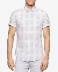 Calvin Klein Jeans Men's White River Reflection Short Sleeve Shirt Chrome
