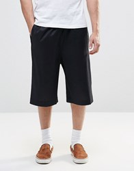 Asos Tailored Basketball Shorts In Black Linen Black