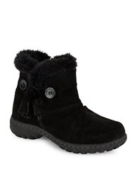 Khombu Sherpa Lined Suede Ankle Boots Black