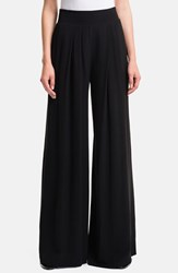 Women's 1.State High Rise Wide Leg Trousers Rich Black