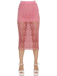 Ermanno Scervino Techno Lace Pencil Skirt