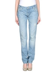 Pinko Grey Denim Pants Blue