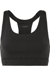 Yummie By Heather Thomson Janet Mesh Trimmed Stretch Jersey Sports Bra