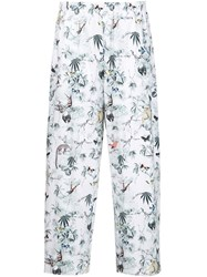 Adam By Adam Lippes Adam Lippes Cuban Forest Print Palazzo Pants White