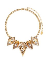 Erickson Beamon 'Geometry One' Swarovski Crystal Statement Necklace Metallic
