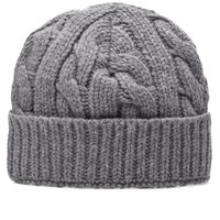 Oliver Spencer Chunky Knit Beanie Grey