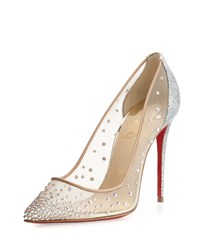 Christian Louboutin Follies Strass 100Mm Red Sole Pump Multi Women's Size 35.0B 5.0B Multi Color