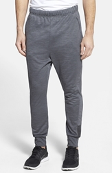 Adidas 'Beyond The Run' Slim Fit Climalite French Terry Jogger Pants Dark Grey Heather Black