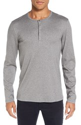 Calibrate Men's Refined Cotton Henley Grey Cloudy Heather