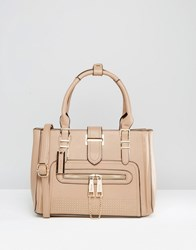 Dune Tote Bag With Gold Hardwear Taupe Beige