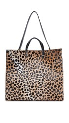 Clare V. Haircalf Simple Tote Leopard