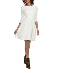 Donna Morgan White Wave Fit And Flare Dress