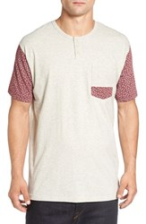 Imperial Motion Men's 'Harper' Short Sleeve Pocket Henley T Shirt Oatmeal