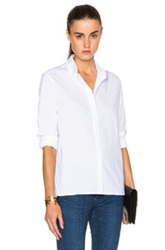 Victoria Beckham Denim Basic Top In White