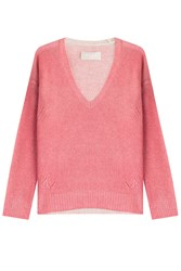 Zadig And Voltaire Cashmere Rina C Pullover Rose