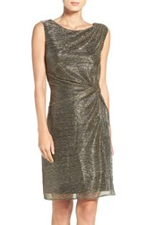 Ellen Tracy Women's Metallic Knit Sheath Dress