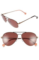Women's Jonathan Adler 'Mustique' 58Mm Aviator Sunglasses