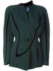 Thierry Mugler Vintage Single Button Blazer Green