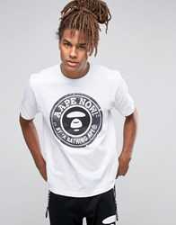 Aape By A Bathing Ape T Shirt With Large Logo White