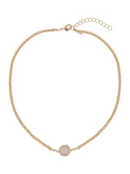 Mikey Disc Circle Crystal Elastic Necklace