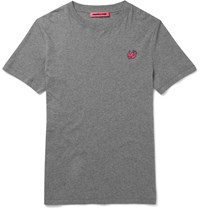 Mcq By Alexander Mcqueen Slim Fit Cotton T Shirt Gray