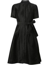 Carolina Herrera Belted Shirt Dress Black