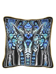 Roberto Cavalli Plumes Collection Decorative Silk Pillow