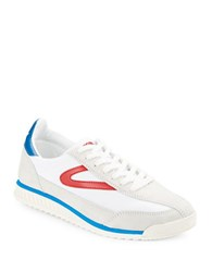 Tretorn Rawlins Leather And Suede Sneakers White