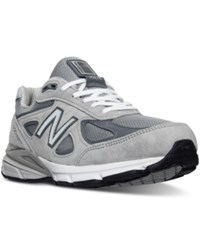 New Balance Men's 990V4 Wide Width Running Sneakers From Finish Line Grey Castlerock