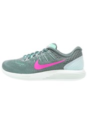 Nike Performance Lunarglide 8 Stabilty Running Shoes Green Glow Fire Pink Hasta Cannon Barely Green