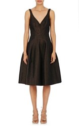J. Mendel Women's Full Skirt Cocktail Dress Black