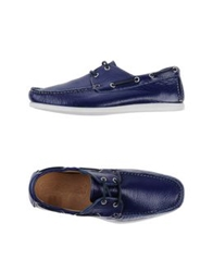 Gold Brothers Lace Up Shoes Blue