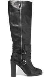 Rebecca Minkoff Billie Textured Leather Over The Knee Boots Black
