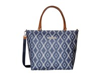 Petunia Pickle Bottom Glazed Tailored Tote Indigo Tote Handbags Blue