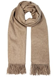 Johnstons Of Elgin Taupe Cashmere Scarf