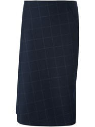 Brunello Cucinelli Jacquard Asymmetric Skirt Blue