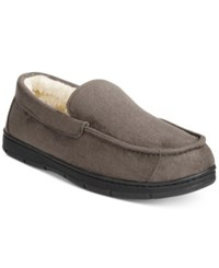 Club Room Men's Faux Suede Slippers Only At Macy's Grey