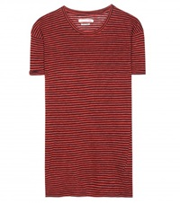 Isabel Marant Etoile Andrei Cotton And Linen Blend T Shirt Red
