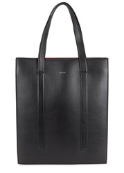 Paul Smith Concertina Black Leather Tote