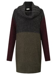 Numph Miliana Longline Colour Block Jumper Multi
