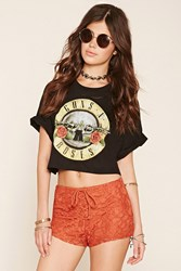 Forever 21 Floral Lace Shorts
