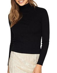 Miss Selfridge Knitted Ribbed Sweater Black