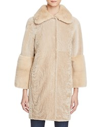 Maximilian Furs Lamb Shearling And Long Hair Mink Fur Coat Bloomingdale's Exclusive Beige