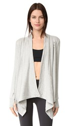 Beyond Yoga Cozy Fleece Wrap Sweatshirt Heather Grey