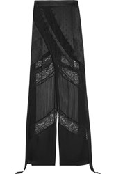 Givenchy Wide Leg Pants In Black Satin