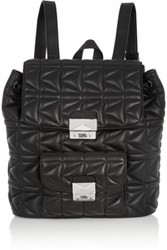 Karl Lagerfeld Kuilted Leather Backpack Black