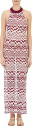 Missoni Mare Women's Wave Knit Racerback Cover Up Dress Red